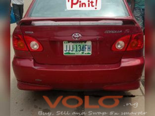 A year used 2004 Toyota corolla S